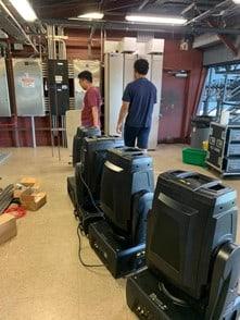 3 Giant DL3 projectors