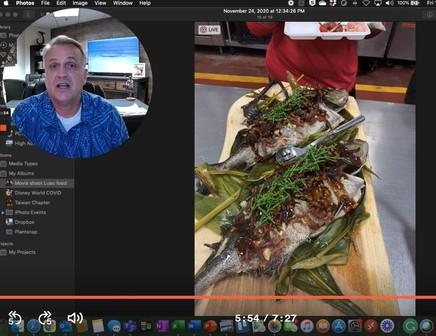 New menu - fishing carving
