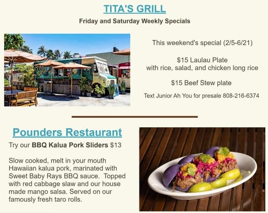 Titas and Pounders specials