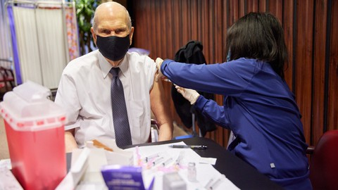 President Nelson received his COVID vaccine on Jan 19, 2021