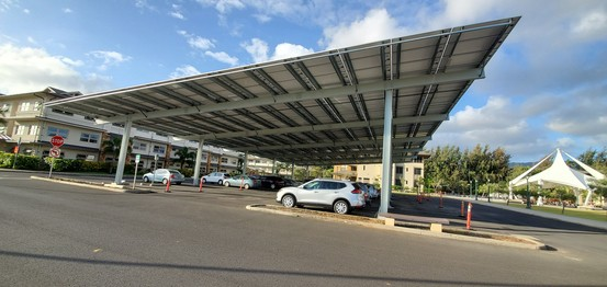 Solar panels between Hales