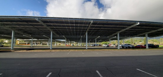Solar panels closed up in front of JFS Admin