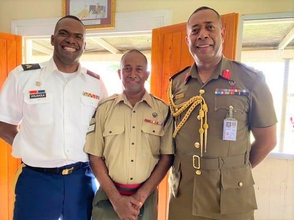 Kali Brigadier General Kalouniwai and a fellow classmate